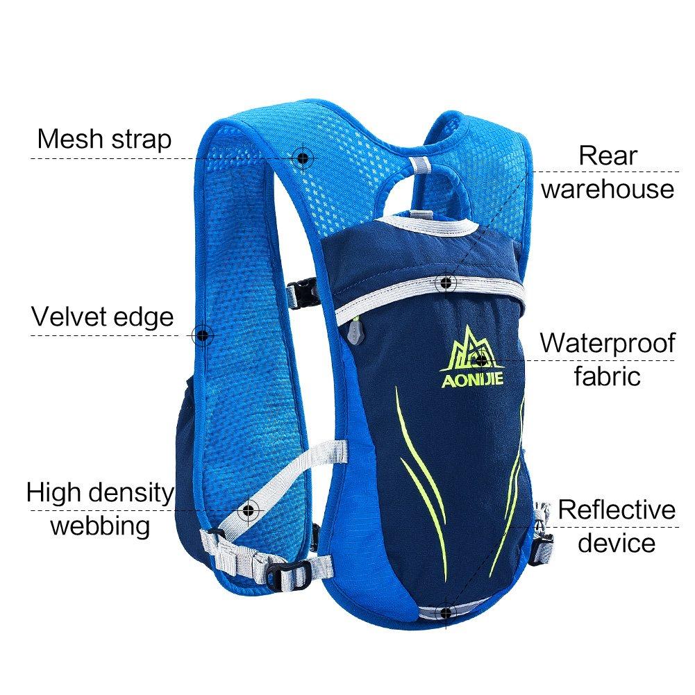 Hydration Pack Backpack Running Mesh Vest Lightweight Breathable Hiking Bag